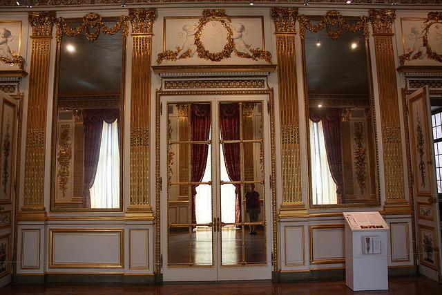 Salon Dore (gebaut Ende 18. Jahrhundert) in Frankreich