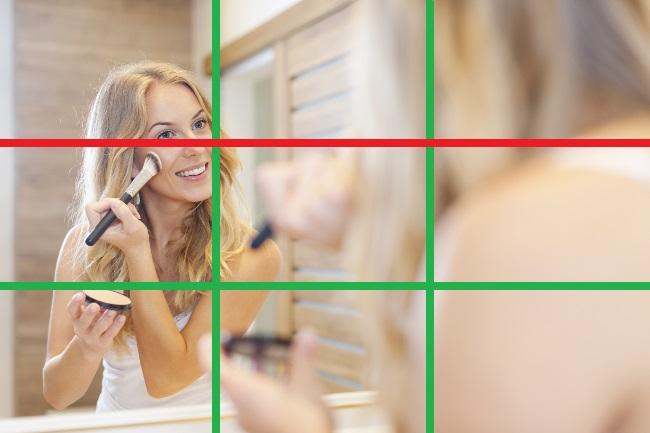 Raster, das die perfekte Augenhöhe für Videoaufnamen zeigt