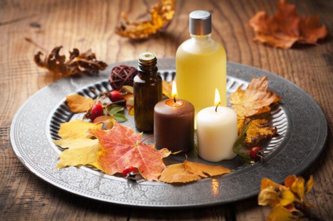 Herbstblätter im Spa