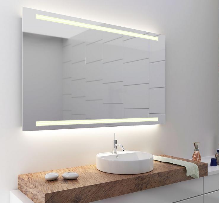 Spiegel aufh ngen so montieren sie den badspiegel m helos - Spiegel mit schrage ...