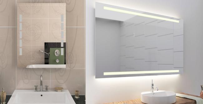 breiter und schmaler Badspiegel
