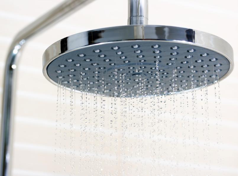 Dusche mit Regenfunktion