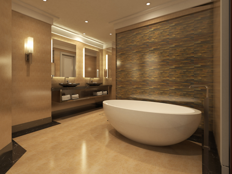 Luxuriöse Badewanne
