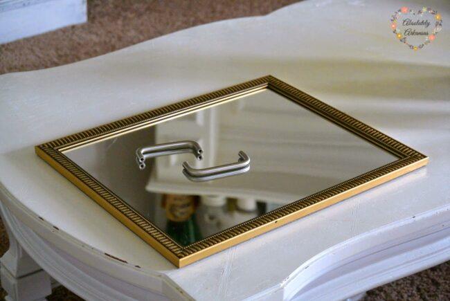 Material für Spiegel Tablett DIY
