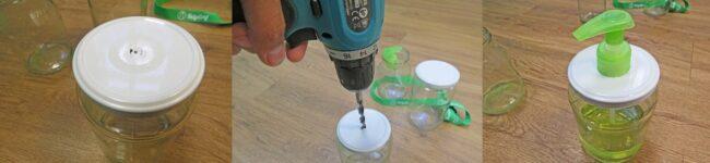 Seifenspender DIY aus Joghurtglas