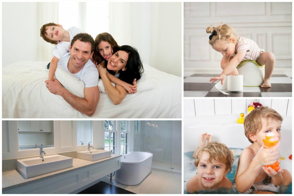 Ein Bad für die ganze Familie will ordentlich geplant sein  - kein anderer Raum muss so vielen Bedürfnissen auf einmal gerecht werden.