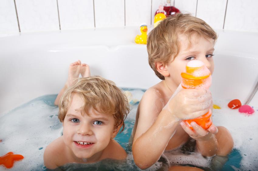 Gemeinsam baden macht doppelt Spaß!